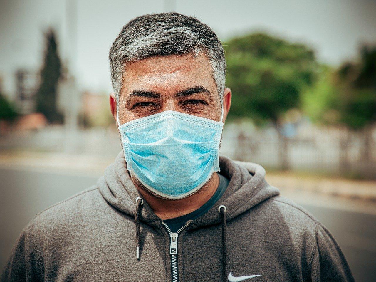 wearing facemask