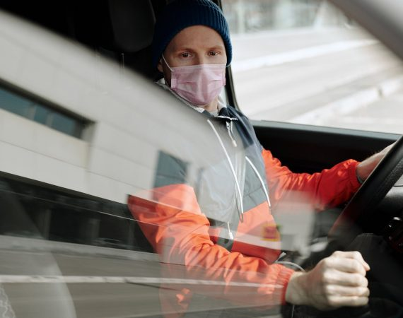 driver with mask