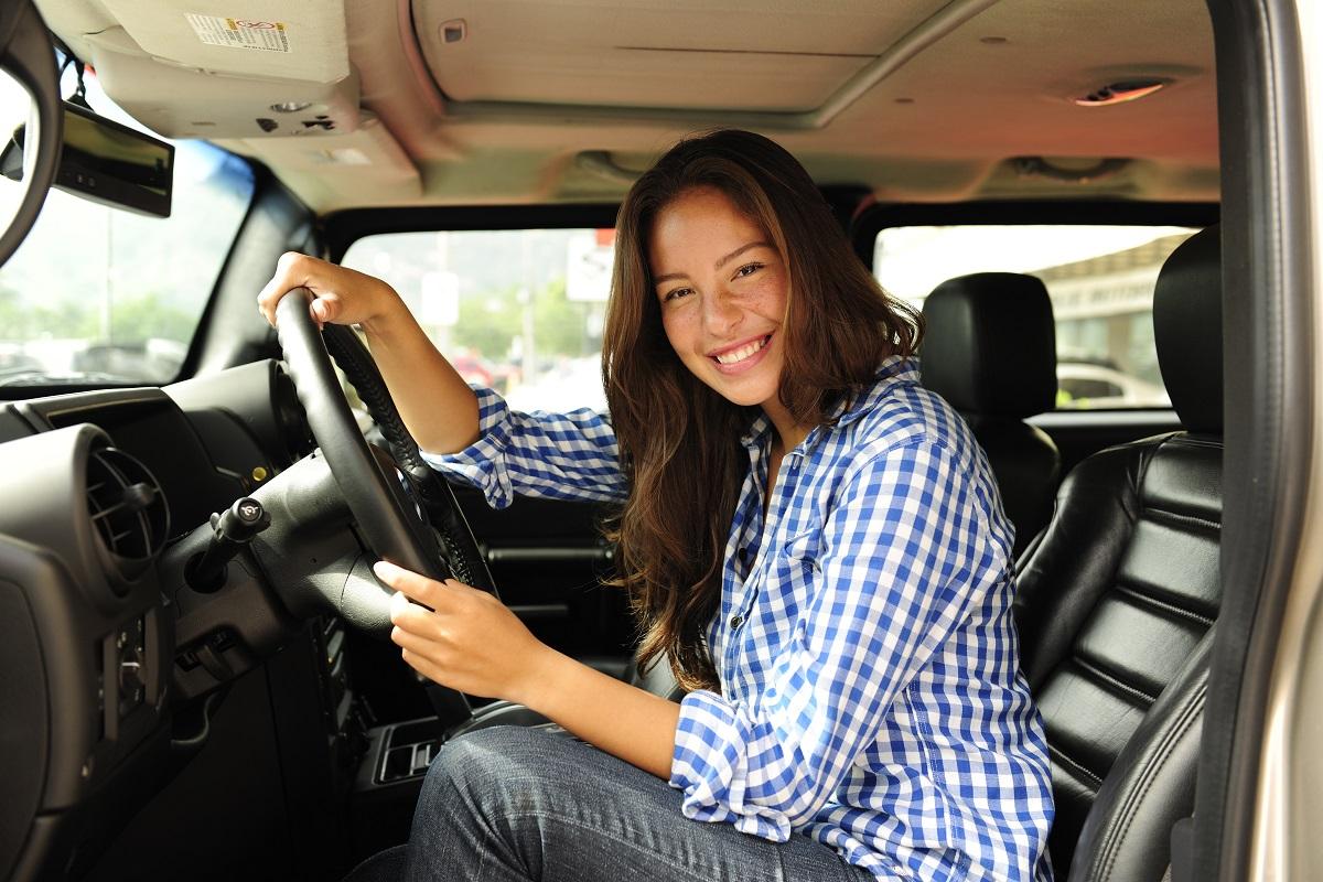 woman driving