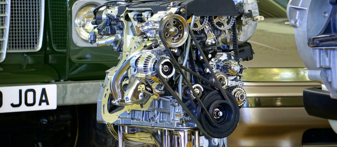 the machinery inside a car